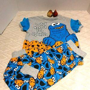 Sesame Street cookie monster pajamas
